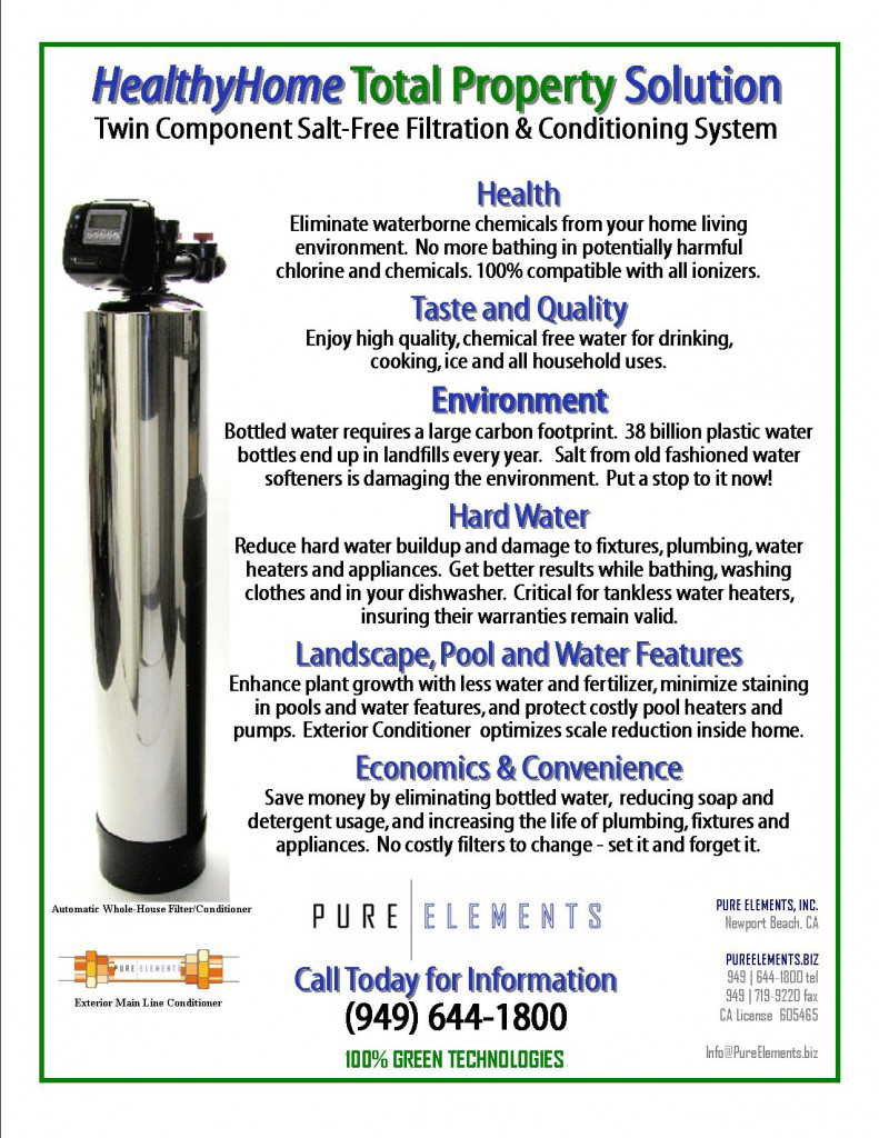 Pure Elements - HealthyHome Solution water filter brochure