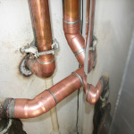 New copper pipe installed