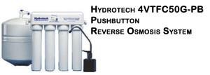 Hydrotech 4VTFC50G-PB Pushbutton Reverse Osmosis System - Smartap