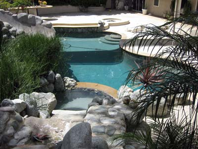 Swimming pool can be damaged by salt