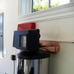 Automatic backwashing timer