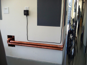 Copper pipe for intake and outtake valves