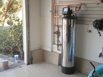 Chloramine filter installed