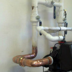 Pipe detail on water filtration system installed in Newport