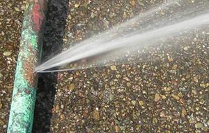 Pinhole leak spraying