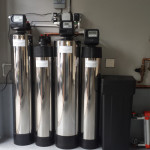 Irvine water filtration and fluoride removal system with four tanks