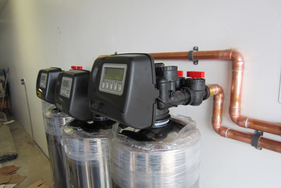 Large entire home water filtration system is about ready