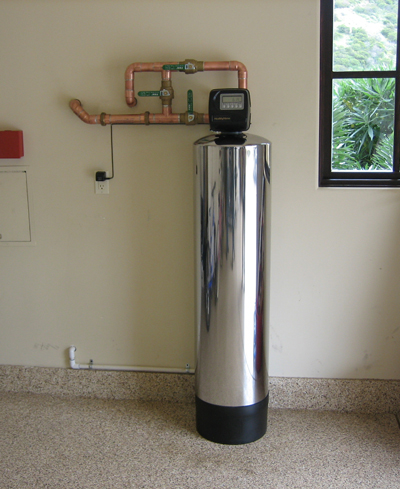 The newly installed Irvine Shady Canyon water filter is working already