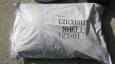 Coconut shell carbon is just one of several media used in the Pure Elements water filter