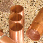 Brand new shiney copper pipes
