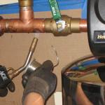 Solding the new shut off valves