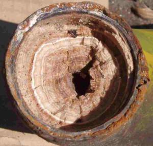 Hard water scale destorys plumbing.