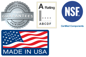 Angies list NSF Made in USA footer