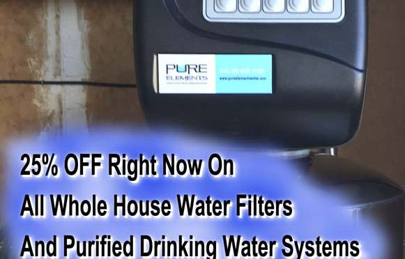 25% off whole house water filter